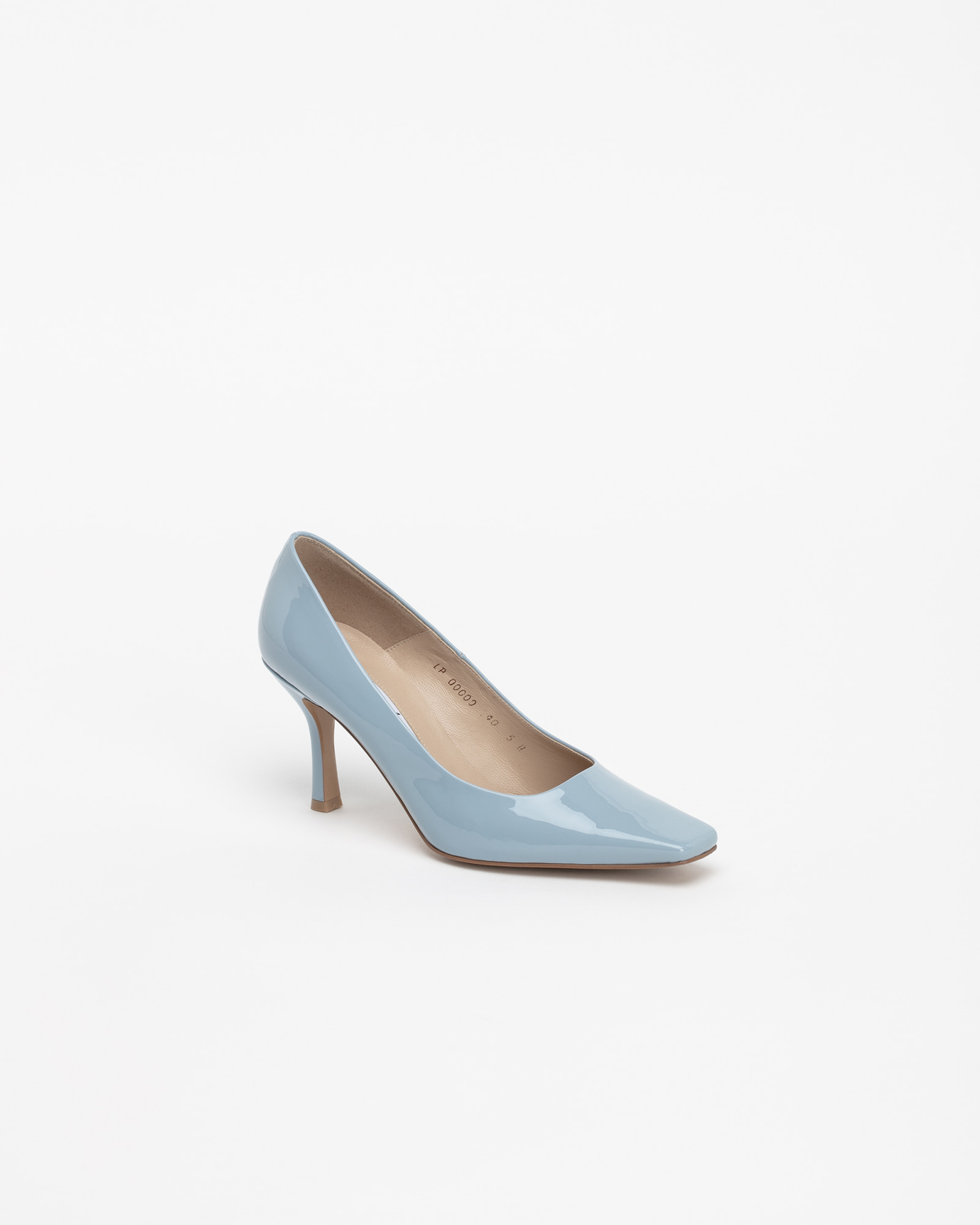 Seraff Pumps in Coral Blue Patent